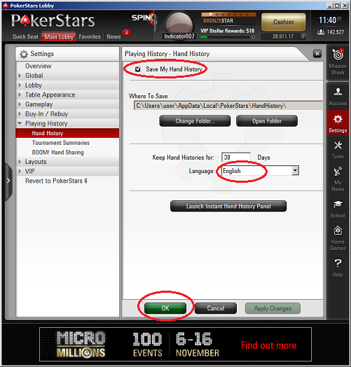 pokerstars hand calculator